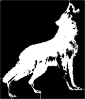 bridged layer 1 of stencil of Howling Wolf