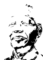 bridged layer 3 of stencil of Nelson Mandela