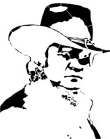 bridged layer 2 of stencil of Johnny Cash