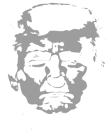 unbridged layer 2 of stencil of Donald Trump