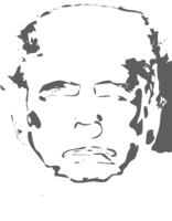 unbridged layer 3 of stencil of Donald Trump
