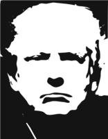 unbridged layer 4 of stencil of Donald Trump