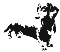 unbridged layer 3 of stencil of Dachshund