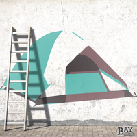 painted stencil art of Tent