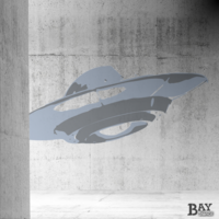 painted stencil art of UFO