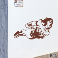 simulated stencil painting of Wonder Woman