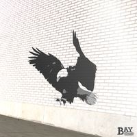 painted stencil art of Bald Eagle