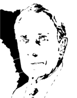 bridged layer 4 of stencil of Michael Bloomberg