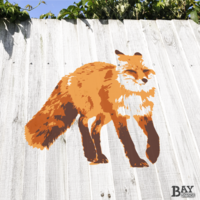 painted stencil art of Fox