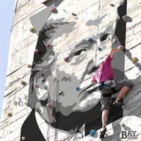 simulated stencil painting of Donald Trump