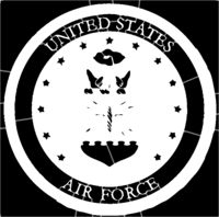 bridged layer 1 of stencil of United States Air Force