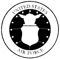 bridged layer 5 of stencil of United States Air Force