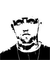 bridged layer 2 of stencil of Mac Miller