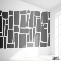 simulated stencil painting of Blocks