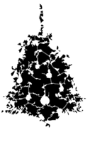 bridged layer 4 of stencil of Christmas Tree