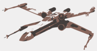 stencil of X-Wing Fighter