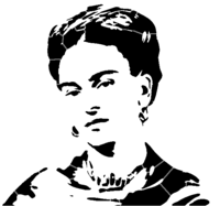 bridged layer 4 of stencil of Frida Kahlo