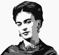 stencil of Frida Kahlo