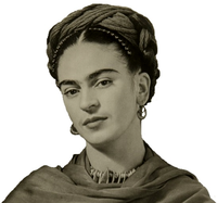 original image of Frida Kahlo