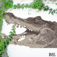 simulated stencil painting of Alligator
