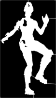 bridged layer 1 of stencil of Fortnite Character
