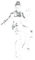 unbridged layer 2 of stencil of Fortnite Character