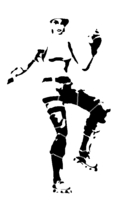 bridged layer 5 of stencil of Fortnite Character