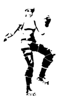 bridged layer 3 of stencil of Fortnite Character