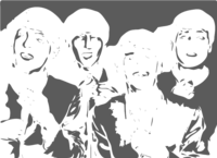unbridged layer 3 of stencil of The Beatles
