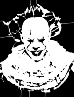 bridged layer 5 of stencil of Pennywise