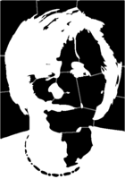 bridged layer 1 of stencil of Angela Merkel