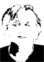 bridged layer 3 of stencil of Angela Merkel