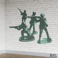 painted stencil art of Army Men