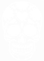 unbridged layer 1 of stencil of Day of the Dead Skull