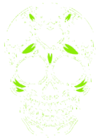 unbridged layer 2 of stencil of Day of the Dead Skull