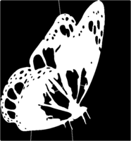 bridged layer 1 of stencil of Butterfly