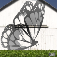 painted stencil art of Butterfly