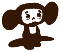 stencil layer of Cheburashka