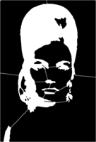 bridged layer 1 of stencil of The Bouffant