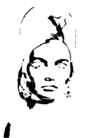 bridged layer 2 of stencil of The Bouffant