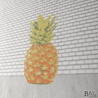 painted stencil art of Pineapple