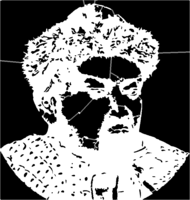 bridged layer 1 of stencil of Genghis Khan