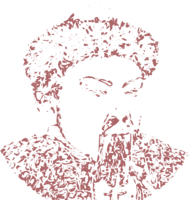 unbridged layer 3 of stencil of Genghis Khan