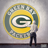 painted stencil art of Green Bay Packers