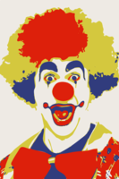 stencil of Clown