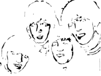 bridged layer 3 of stencil of The Beatles