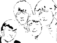 bridged layer 4 of stencil of The Beatles