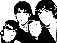 bridged layer 5 of stencil of The Beatles