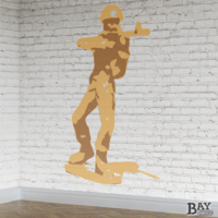 painted stencil art of Toy Soldier
