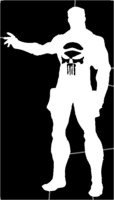 bridged layer 1 of stencil of The Punisher